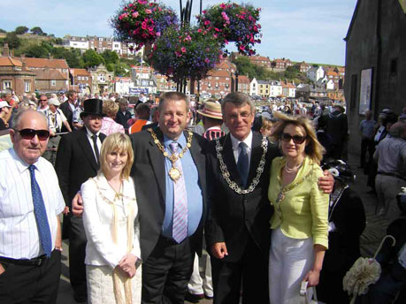 The Lord Mayor of Whitby and the Lord Mayor of Scarborough