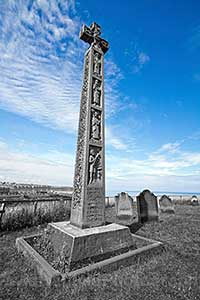 Celtic cross in St Mary's Church Whitby