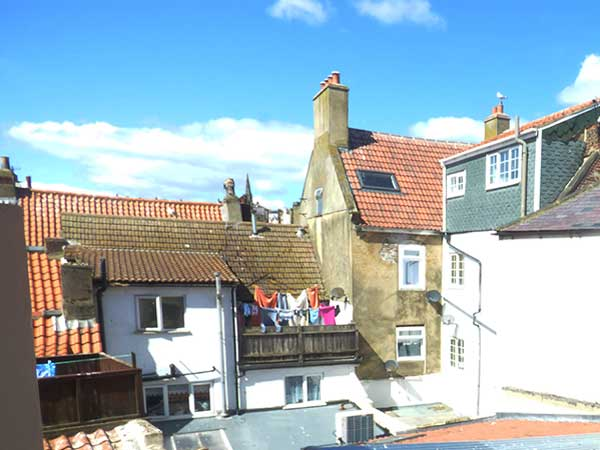 the view from the attic bedroom of church Street cottage