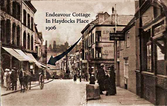 Endeavour cottage in Haydocks Place off Flowergate in this photograph 1906