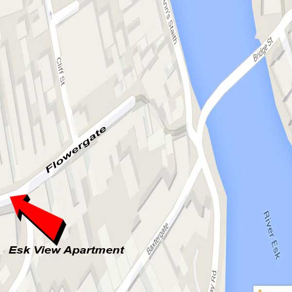 Esk View apartment location map