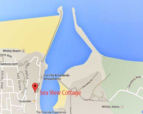 Sea View Cottage Location Map