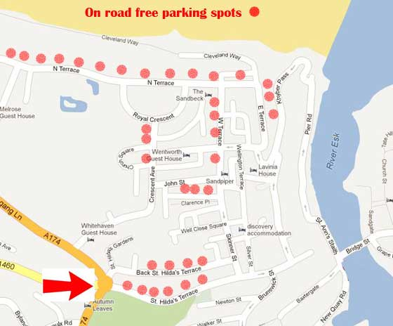 Whitby on road parking locations