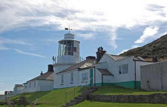 Whitby's old lighthouse situated on the Cleveland Way walk approximately 2 miles out from the centre of town