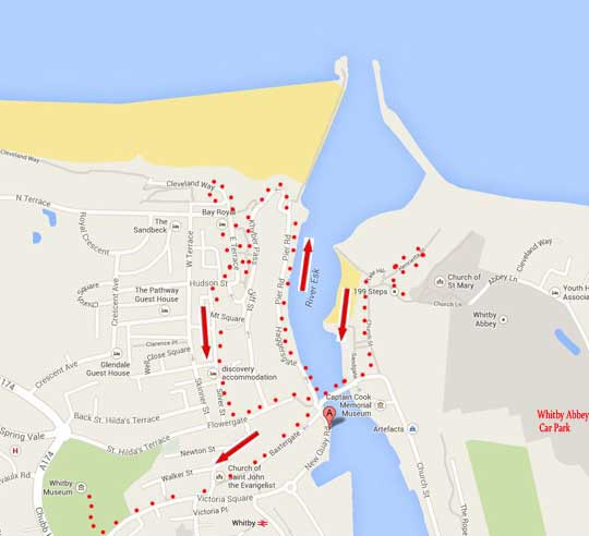 map of whitby yorkshire