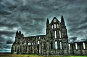 Whitby Abbey in a storm