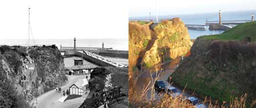 Khyber Pass in Whitby in 1925 and today in 2012