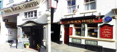 White Horse and Griffin and Black Horse pubs