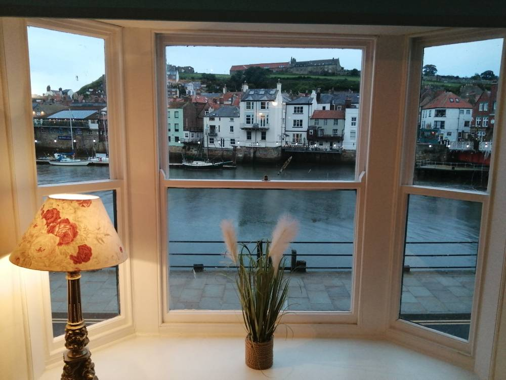 Whitby Harbour Apartment sleeps five people with panoramic views