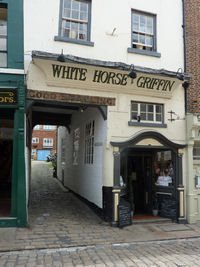 The White Horse and Griffin public house on Church Street in Whitby